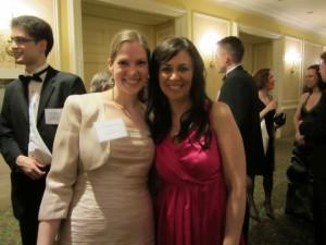 Shannon Skinner photographed with Christine Platt, founder, artVentures