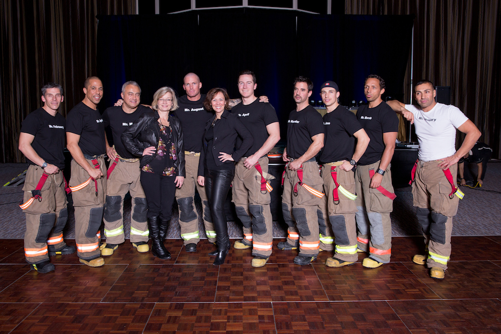 Shannon with Toronto Firefighters-edited