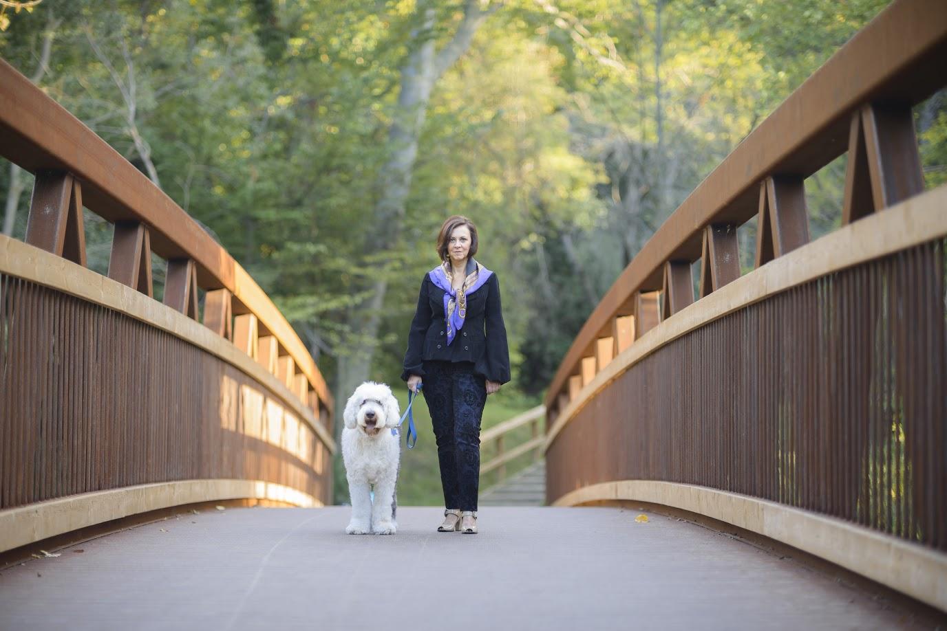Shannon and Bob crossing the bridge