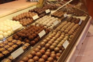 Swiss chocolate truffles in Geneva, Switzerland