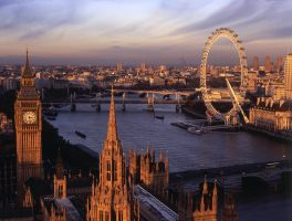 River Thames in London, England, UK