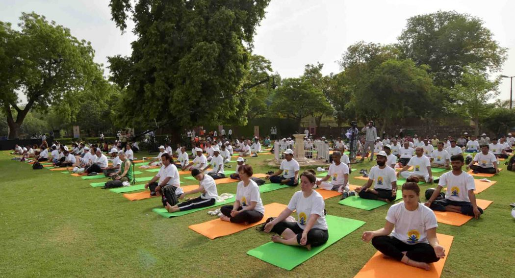 International Yoga Day in Delhi, India